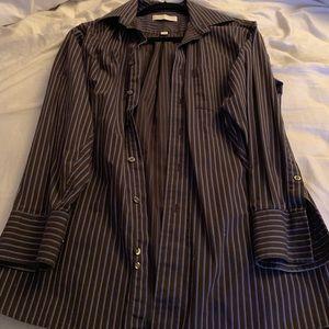 Michael Kors Men's Brown Dress Shirt. Medium.